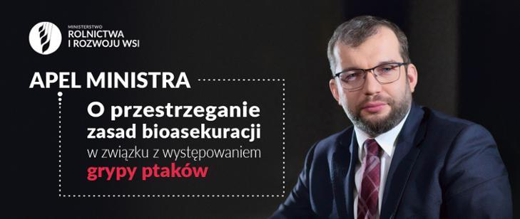 Apel Ministra o przestrzeganie zasad bioasekuracji w związku z grypą ptaków