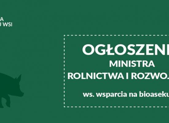 Wnioski o pomoc na refundację wydatków na bioasekurację